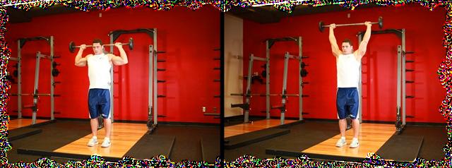 Упражнения для плеч со штангой